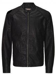 Jack&Jones Pánská bunda Jororiginals Pu Jacket Noos Black S