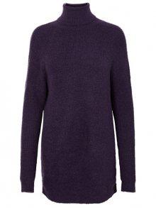 Vero Moda Dámské šaty Story Curve Ls Rollneck Dress Purple Velvet L