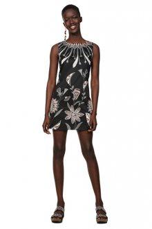 Desigual Dámské šaty Vest Kira Negro 19SWVWB3 2000 36