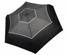 Doppler Dámský skládací plně automatický deštník Fiber Magic XS Tricolore černý 747465TR03-hvězdičky