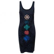 Desigual Dámské šaty Vest Coque Negro 19SWVKAH 2000 XS