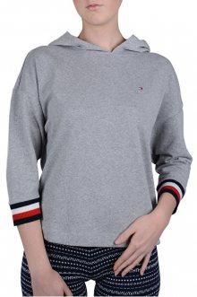Tommy Hilfiger Dámská mikina Modern Stripe Terry Hoody Bat Slv Grey Heather UW0UW01273-004 S