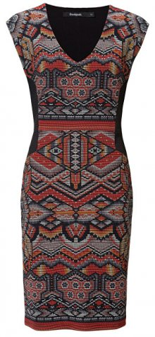 Desigual Dámské šaty Vest Dunia Daranja Tierra 19SWVKA9 7015 S