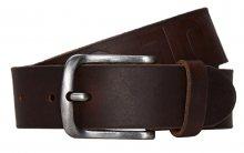 Jack&Jones Pánský opasek Larry Leather Belt Noos Black Coffee 85 cm