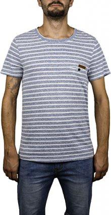 Hydroponic Pánské tričko Imperial Stripe SS Navy Stripes S