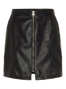 Vero Moda Dámská sukně Jana Connery Short Faux Leather Skirt Black L