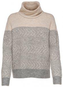 ONLY Dámský svetr New Mara L/S Rollneck Pullover Knt Medium Grey Melange M