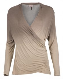 Deha Dámské triko V Neck L/S Tee B84571 Shaded Walnut XS