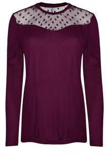 ONLY Dámské triko Kirsty LS Mix Top Box Jrs Purple Potion Dots XS
