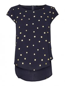 ONLY Dámská halenka Vic SS Aop Top Noos Wvn Night Sky Gold Dots 34