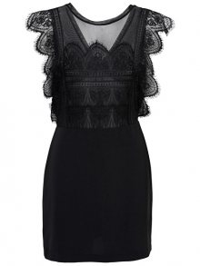 ONLY Dámské šaty Seville Sl Lace Blocking Dress Wvn Black 34