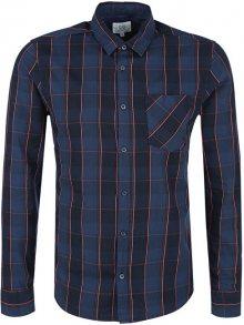 Q/S designed by Pánská modrá kostkovaná košile extra slim fit XL