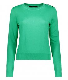 Vero Moda Dámský svetr Milda Ls O-neck Button Blouse Boo Holly Green S