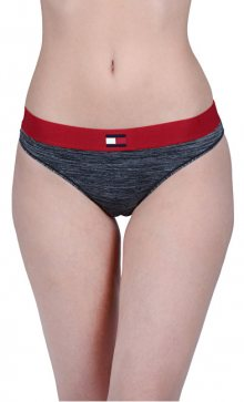 Tommy Hilfiger Dámské kalhotky Flag Tech Bikini Dark Grey Heather UW0UW01042-091 S