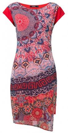 Desigual Dámské šaty Vest Japan Rojo Roja 19SWVWBU 3061 38