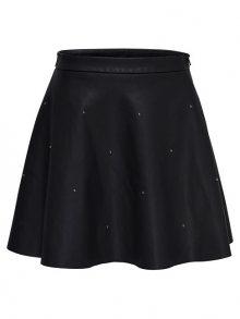ONLY Dámská sukně Fia Stud Short Faux Leather Skirt Otw Black 34
