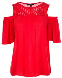 Vero Moda Dámská halenka Mia Cold Shoulder Top Poppy Red S