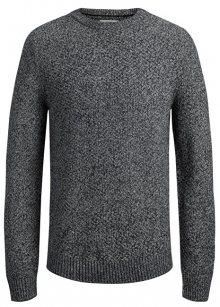 Jack&Jones Pánský svetr Jordale Knit Crew Neck Light Grey Melange Knit Fit S