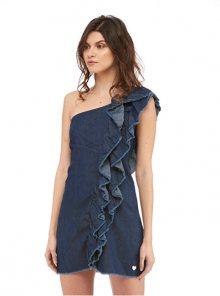 Fornarina Dámské šaty Claude-Denim Dress S