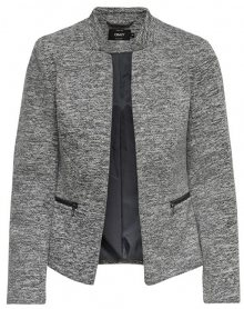 ONLY Dámský blejzr Story Maddy Mel Zip Blazer Noos Tlr Medium Grey Melange 34
