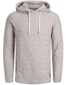 Jack&Jones Pánská mikina Murray Sweat Hood Cloud Dancer Reg S