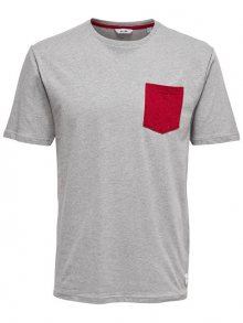 ONLY&SONS Pánské triko Granger Pocket TEE Pussywillow Gray M