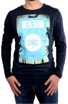 Cars Jeans Pánské tmavě modré tričko s potiskem Mojo Navy 4067712 M