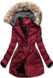 MODOVO Dámská zimní bunda s kapucí M-9 bordó