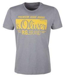 s.Oliver Pánské triko 13.901.32.5206.9500 Ice Grey S