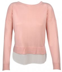 ONLY Dámský svetr Rosana Shen L/S Mix Pullover Knt Strawberry Cream M
