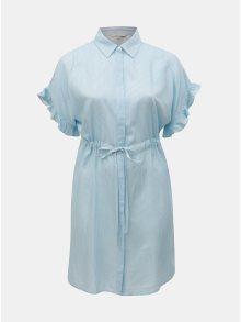 Bílo-modré pruhované košilové šaty ONLY CARMACOMA Carvi