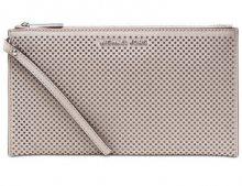 Michael Kors Elegantní kabelka Jet Set Travel Large Zip Clutch Cement