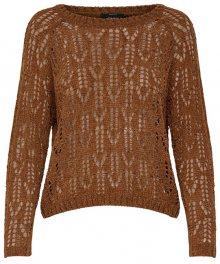 ONLY Dámský svetr Fione L/S Pullover Knt Mocha Bisque XS