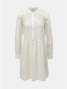 Bílé šaty s krajkou Noisy May Arge