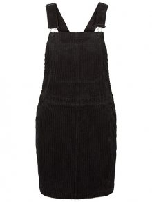 Vero Moda Dámské šaty Greta Dungaree Dress 10204827 Black XS