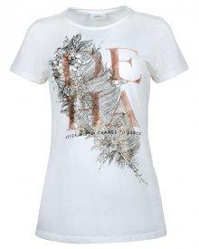 Deha Dámské triko T-Shirt B84150 Snow XS