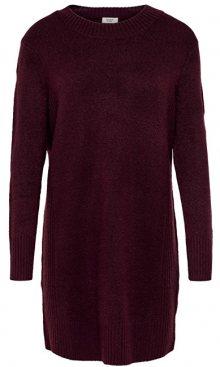 ONLY Dámské šaty Jdy Gold L/S Dress Knit Winetasting XS