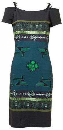 Desigual Dámské šaty Vest Aretha Verde Botella 19SWVK67 4009 XS