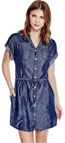Guess Dámské šaty Maren Chambray Shirtdress S