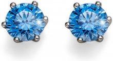 Oliver Weber Stříbrné náušnice s modrými krystaly Morning Brilliance Medium 62066 BLU