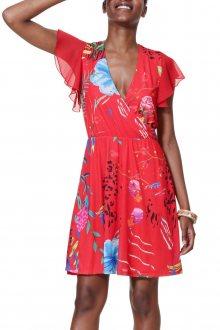Desigual červené šaty Vest Miranda - M