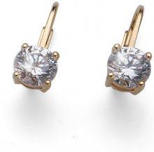 Oliver Weber stříbrné náušnice Comfort 62071 crystal gold plated