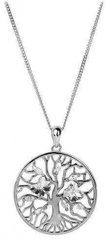 Preciosa Stříbrný náhrdelník s krystaly Tree of Life 6072 00 (řetízek, přívěsek)