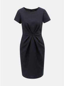 Tmavě modré šaty s řasením Dorothy Perkins