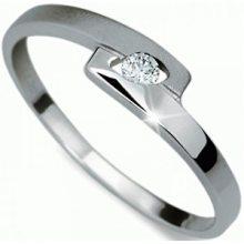 Danfil Jemný prsten s diamantem DF1284b 53 mm