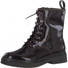 Tamaris Dámské kotníkové boty 1-1-26298-31-580 Bordeaux Pat. 40