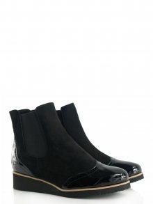 Bosccolo Kotníkové boty 3869_black laquered/suede\n\n