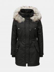 Černá zimní parka s kapucí ONLY