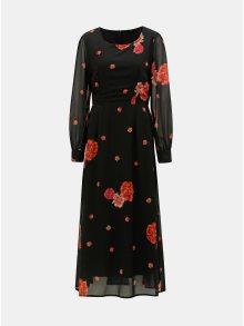 Černé květované maxišaty Dorothy Perkins
