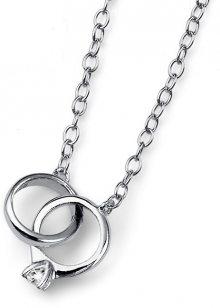 Oliver Weber Stříbrný náhrdelník Ringy 61131R